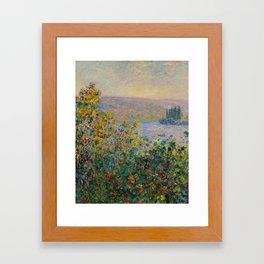 """Claude Monet """"Flower Beds at Vétheuil"""" Framed Art Print"""
