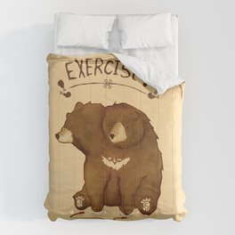 Fitness Bear by Devon Baker Comforters
