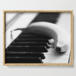Banana on piano Serving Tray