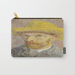 Vincent van Gogh's Self-Portrait with Straw Hat Carry-All Pouch
