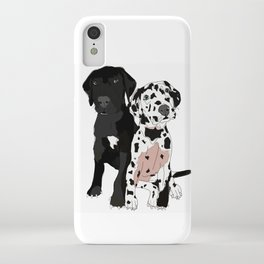 Great Dane Puppy Dogs: Olive & Oden iPhone Case