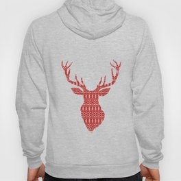 Christmas Jumper Red and White Pattern Hoody