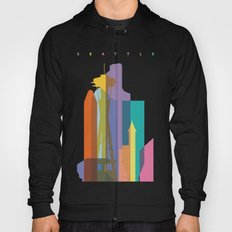 Shapes of Seattle accurate to scale Hoody