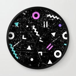 Memphis Grunge Wall Clock