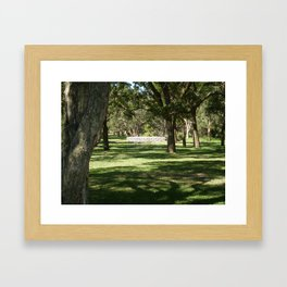 WHITE BRIDGE Framed Art Print