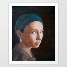 A Girl with a Pearl Earring Art Print
