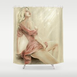 Love Charm - Erotic Pastel Shower Curtain