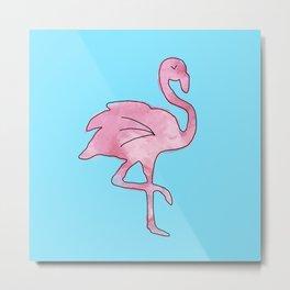 Flamingo Blue Metal Print