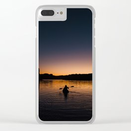 Sunrise Kayak Clear iPhone Case