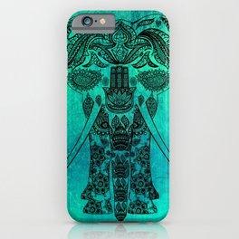 Decorated Indian Elephant Asian Elephant Art iPhone Case