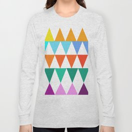 Triangles of Color Long Sleeve T-shirt