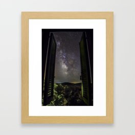 Milky Way from the window Framed Art Print