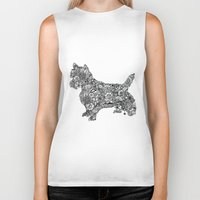 terrier Biker Tanks featuring Terrier by PawPrints