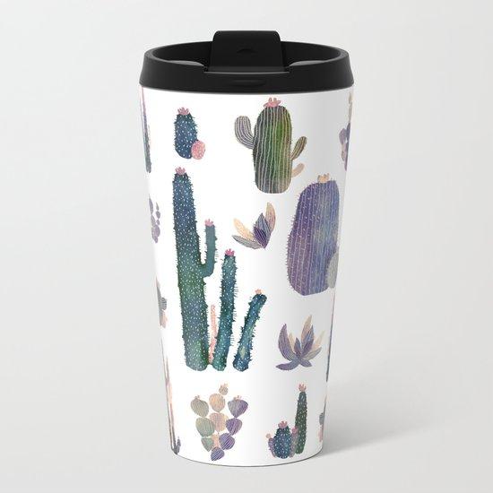 "cactus !"" Metal Travel Mug"