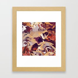 Liquid Beige Framed Art Print