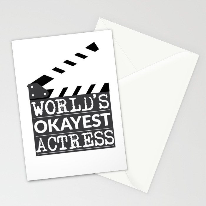 Funny Actress Gift - World's Okayest Actress  Stationery Cards