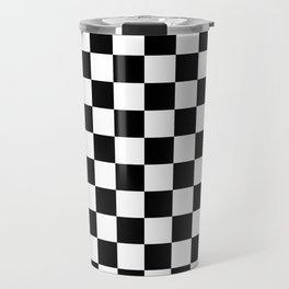 black checkered pattern Travel Mug