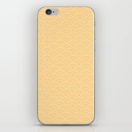 Japanese pattern yellow iPhone Skin