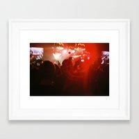 concert Framed Art Prints featuring concert by Alexandra Bauer