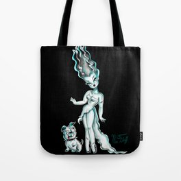 Bride of Frankenstein with Igor Bulldog Tote Bag