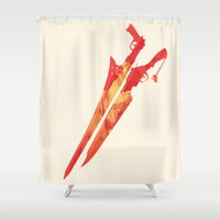 final fantasy Shower Curtains featuring Final Fantasy VIII by GIOdesign