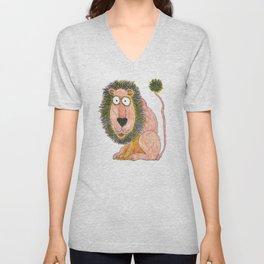 cartoon lion Unisex V-Neck