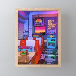Retrowave Dine & Dream Framed Mini Art Print