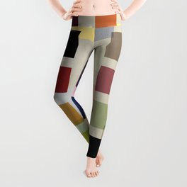 MID-CENTURY COLOR BLOCK LINEN Leggings