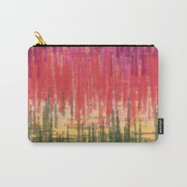 Purple Orange Green Abstract Carry-All Pouch
