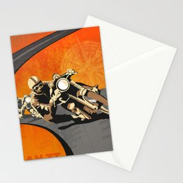 vintage Isle of Man TT motor race poster Stationery Cards