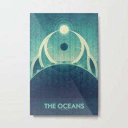 Earth - The Oceans Metal Print