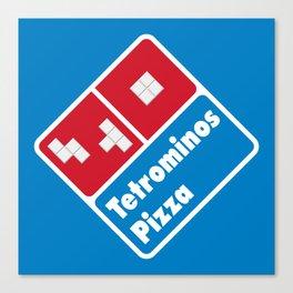 Tetrominos Pizza Canvas Print