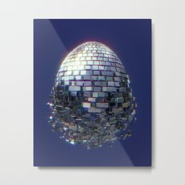 Disco Egg Metal Print
