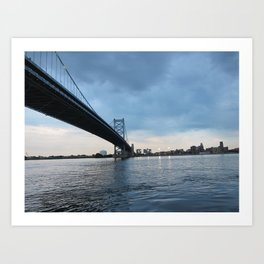 Betsy Ross Bridge in Philadelphia Art Print
