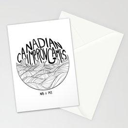 Canadian Improv Games: NB&PEI - Wave Logo Stationery Cards