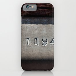 Hammered Serial Number In Metal Plate iPhone Case