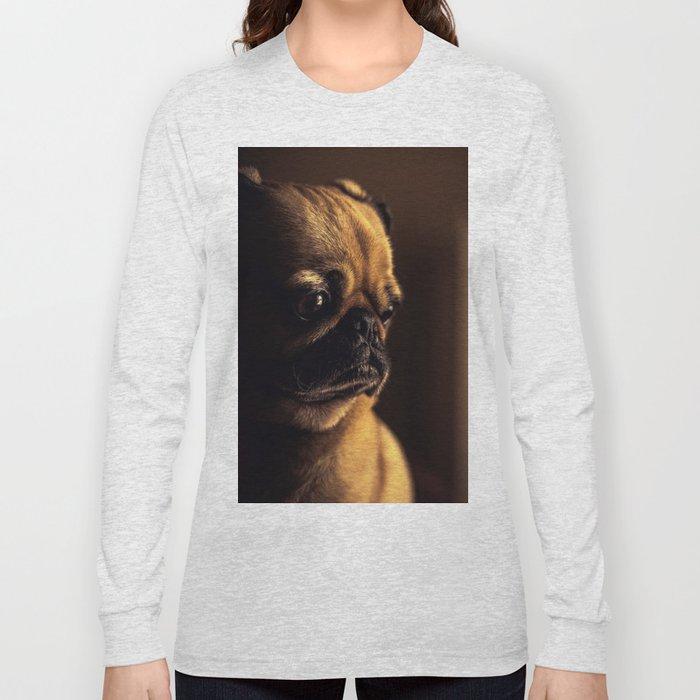 Cute Pug Dog Long Sleeve T-shirt
