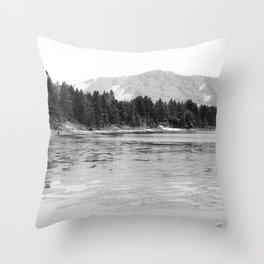 Frozen Lake Tahoe  Throw Pillow