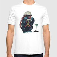 Clams Mens Fitted Tee White SMALL