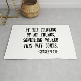 Shakespeare's Halloween Rug