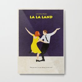 La La Land Alternative Minimalist Film Poster Metal Print