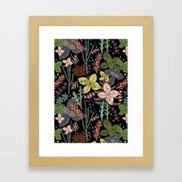 mysterious herbs Framed Art Print