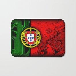 circuit board Portugal (Flag) Bath Mat