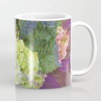 hydrangea Mugs featuring hydrangea by Federico Faggion