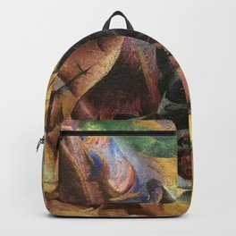 Umberto Boccioni, Elasticity, futurism, abstract painting, modern art, contemporary art, cubism Backpack