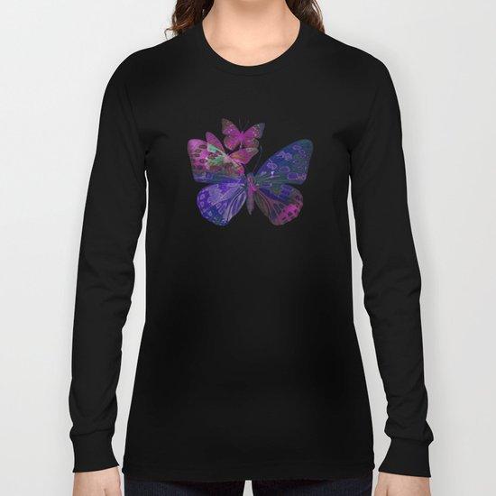 Marble Butterflies Long Sleeve T-shirt