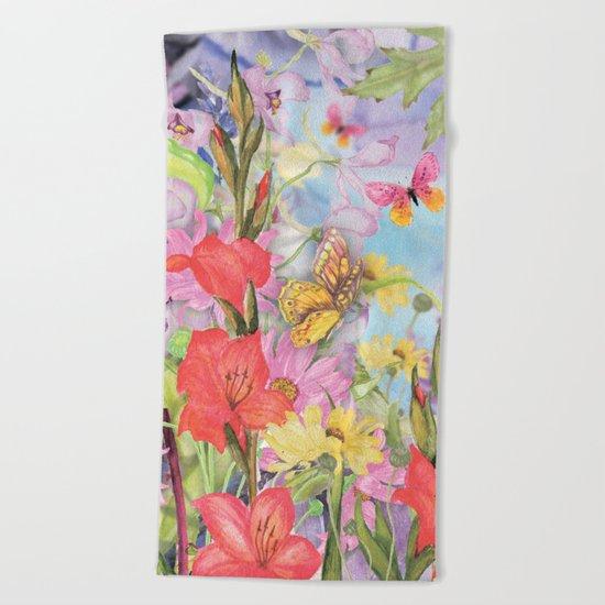 Macro Flowers #22 Beach Towel