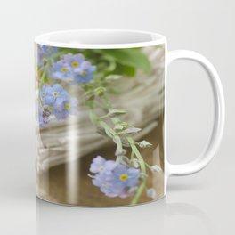 Do not forget me Blue flower Stil Life Coffee Mug