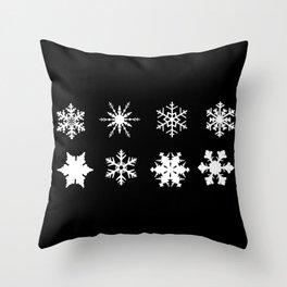Snowflake Collection Throw Pillow