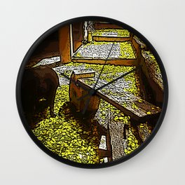 Yellow Brick Road Wall Clock